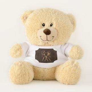 Leather-Look Gemini Teddy Bear