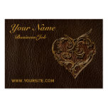 Leather-Look Heart Dark Pack Of Chubby Business Cards