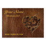 Leather-Look Heart Pack Of Chubby Business Cards