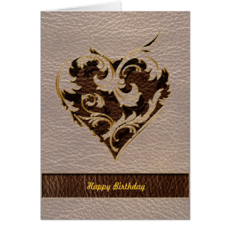 Leather-Look Heart Soft Card