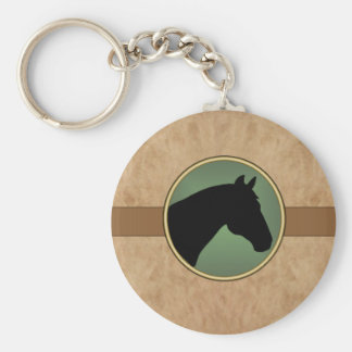 Leather look Horse Head KEYCHAIN