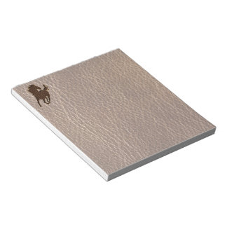 Leather-Look Horse Notepads