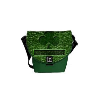 Leather-Look Irish Clover Messenger Bag