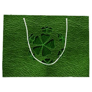 Leather-Look Irish CloverBall Large Gift Bag