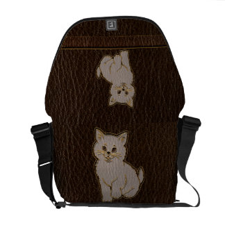 Leather-Look Kitten Dark Commuter Bags