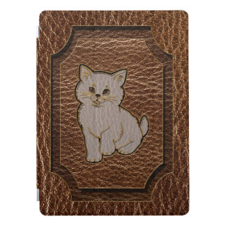 Leather-Look Kitten iPad Pro Cover