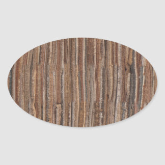 Leather-look layers oval sticker