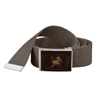 Leather-Look Leo Belt