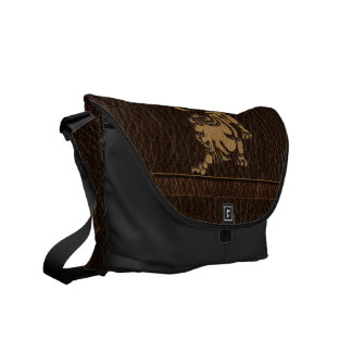 Leather-Look Leo Courier Bag