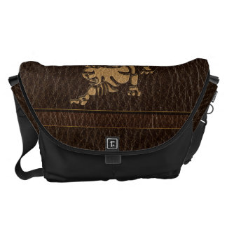 Leather-Look Leo Messenger Bags