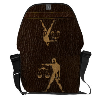 Leather-Look Libra Courier Bag