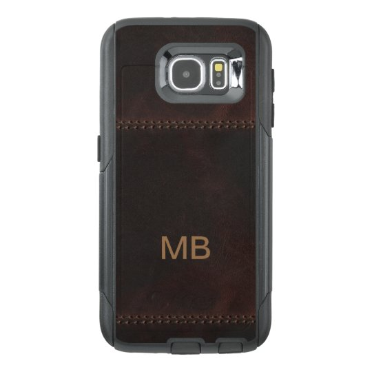 Leather Look Monogram OtterBox Samsung Galaxy S6 Case