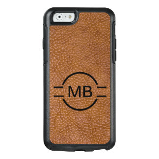 Leather Look Monogram Style OtterBox iPhone 6/6s Case