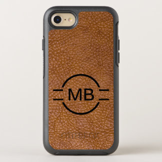 Leather Look Monogram Style OtterBox Symmetry iPhone 7 Case