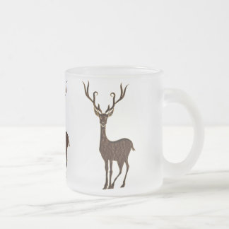 Leather-Look Native American Zodiac Deer Frosted Glass Mug