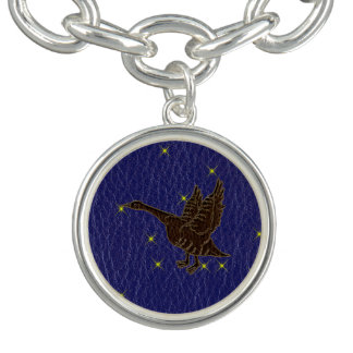 Leather-Look Native American Zodiac Goose