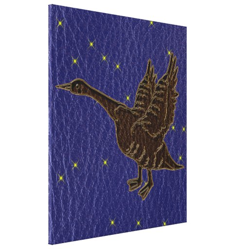 Leather-Look Native American Zodiac Goose Gallery Wrapped Canvas