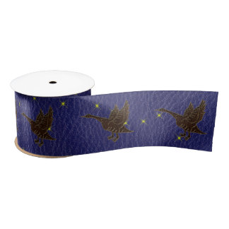 Leather-Look Native American Zodiac Goose Satin Ribbon