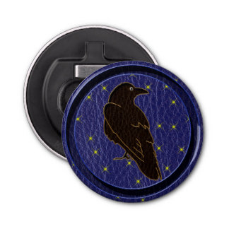 Leather-Look Native American Zodiac Raven