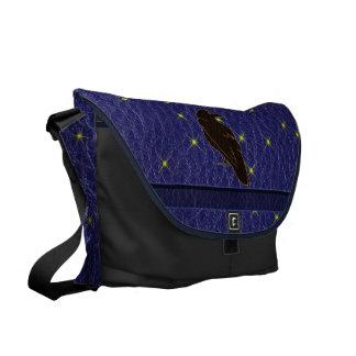 Leather-Look Native American Zodiac Raven Messenger Bags