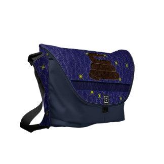 Leather-Look Native American Zodiac Serpent Messenger Bag