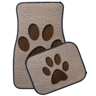 Leather-Look Paw Soft Car Mat