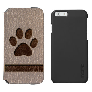 Leather-Look Paw Soft Incipio Watson™ iPhone 6 Wallet Case
