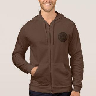 Leather-Look Peace Brown Dark Hoodie