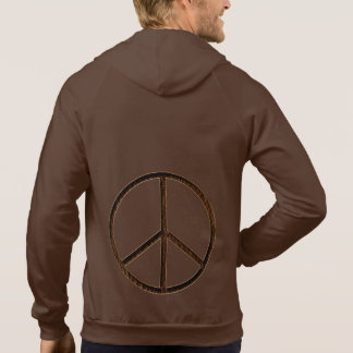 Leather-Look Peace Brown Soft Hoody