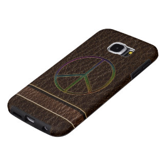 Leather-Look Peace Colour Dark Samsung Galaxy S6 Cases