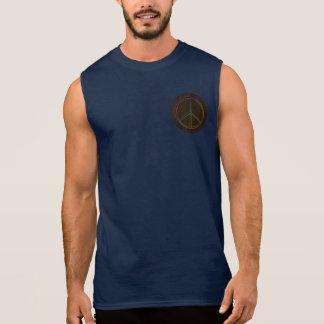 Leather-Look Peace Colour Dark Sleeveless Shirt