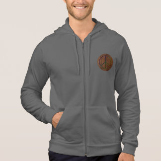 Leather-Look Peace Colour Hoodie
