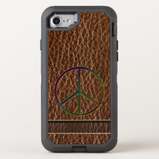 Leather-Look Peace Colour OtterBox Defender iPhone 8/7 Case