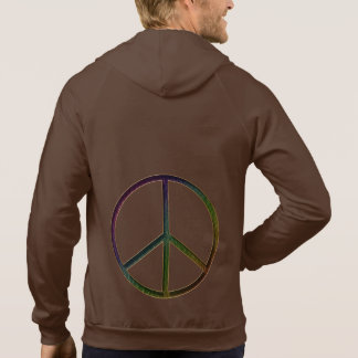 Leather-Look Peace Colour Soft Hoodie