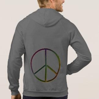 Leather-Look Peace Colour Sweatshirts