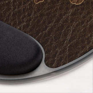 Leather-Look Rodeo Dark Gel Mouse Pad