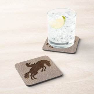 Leather-Look Rodeo Soft Drink Coasters