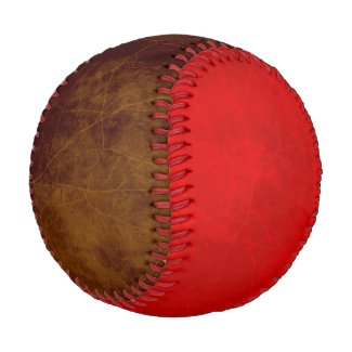 Leather look rustic aged pleather brown red baseball