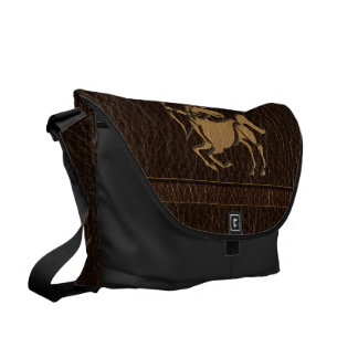 Leather-Look Sagittarius Messenger Bags