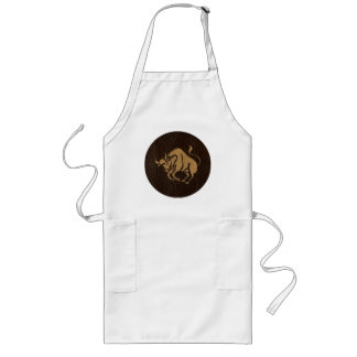 Leather-Look Taurus Long Apron