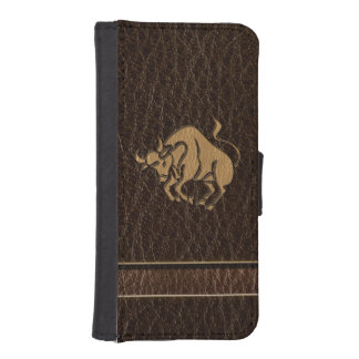 Leather-Look Taurus Phone Wallet Cases