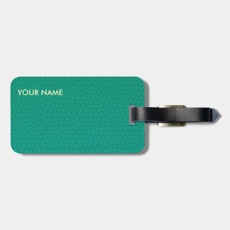 Leather Look Travel Luggage Teal Luggage Tag