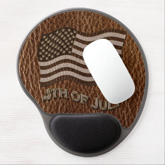 Leather-Look USA Flag Gel Mouse Pad