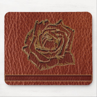 Leather-Look Valentine Rose Mousepads