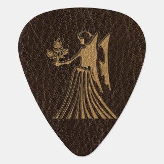 Leather-Look Virgo Guitar Pick