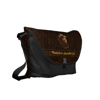 Leather-Look Wedding Dark Commuter Bag