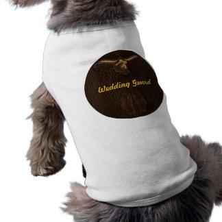 Leather-Look Wedding Dark Sleeveless Dog Shirt