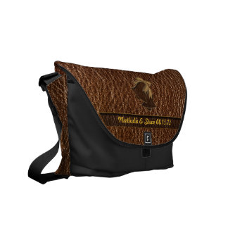 Leather-Look Wedding Commuter Bag