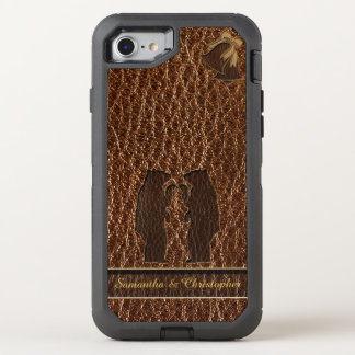Leather-Look Wedding OtterBox Defender iPhone 8/7 Case