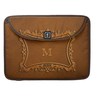 Leather look with customizable Monogram Sleeve For MacBook Pro